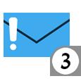 אייקון המתאר הודעה חדשה השלב ה 3 בתהליך